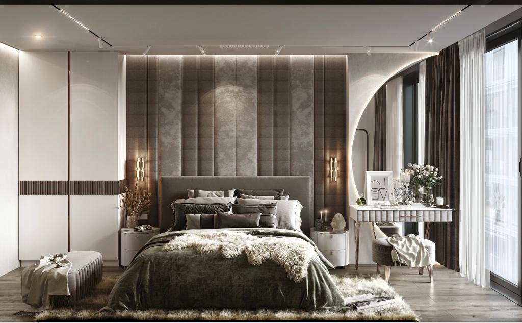 Suadiye dublex yatak odası dekorasyonu