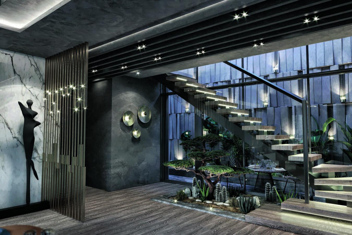 Yeşil Yaka salon tasarımı