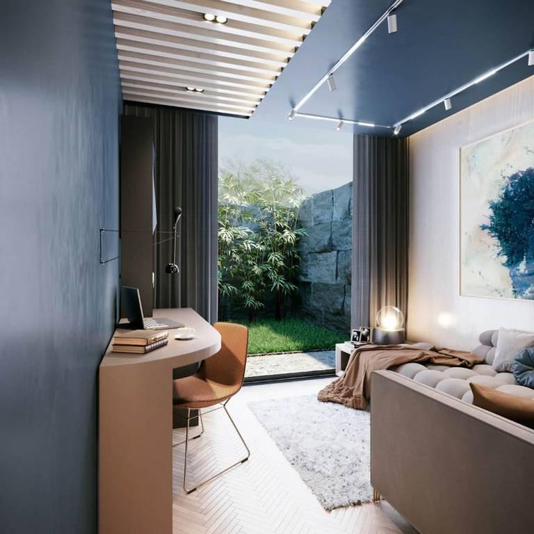Yeşil Yaka oturma odası tasarımı