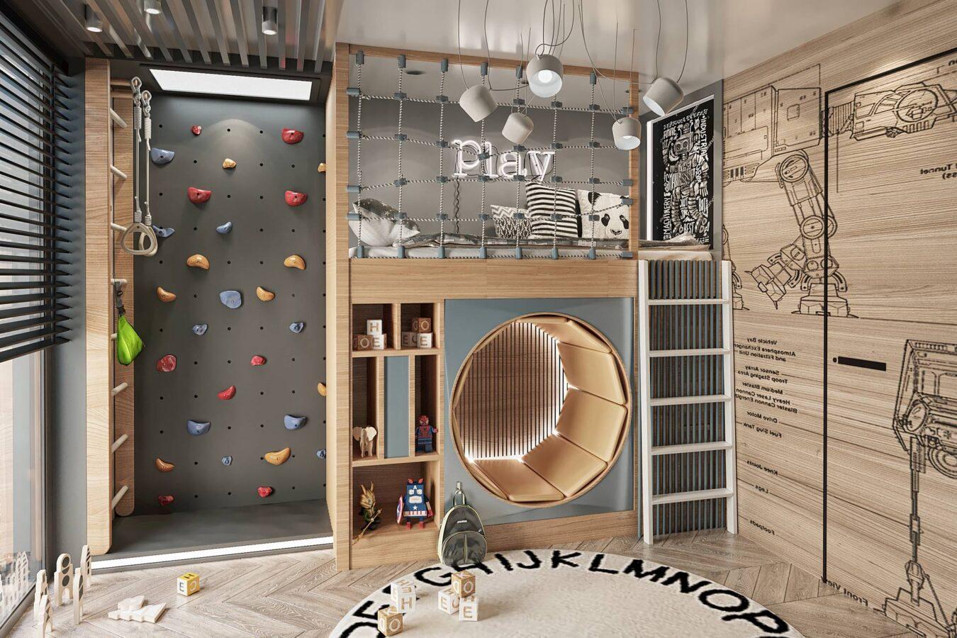 Yeşil Yaka Villaları çocuk odası tasarımı