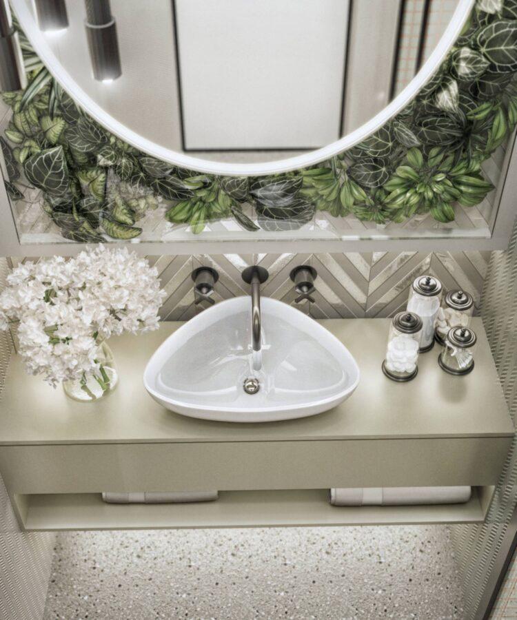 Yeşil Yaka Villaları banyo dekorasyonu