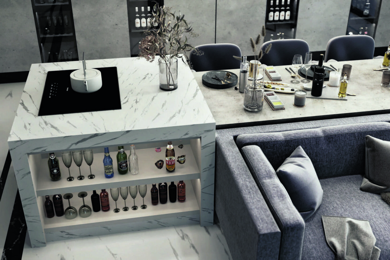 Yeşil Yaka Villaları Yemek Odası