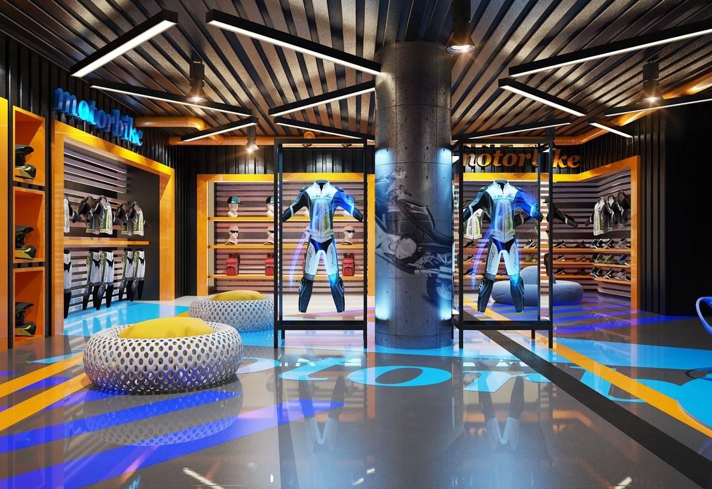 Mondial Showroom giysi reyonu tasarımı