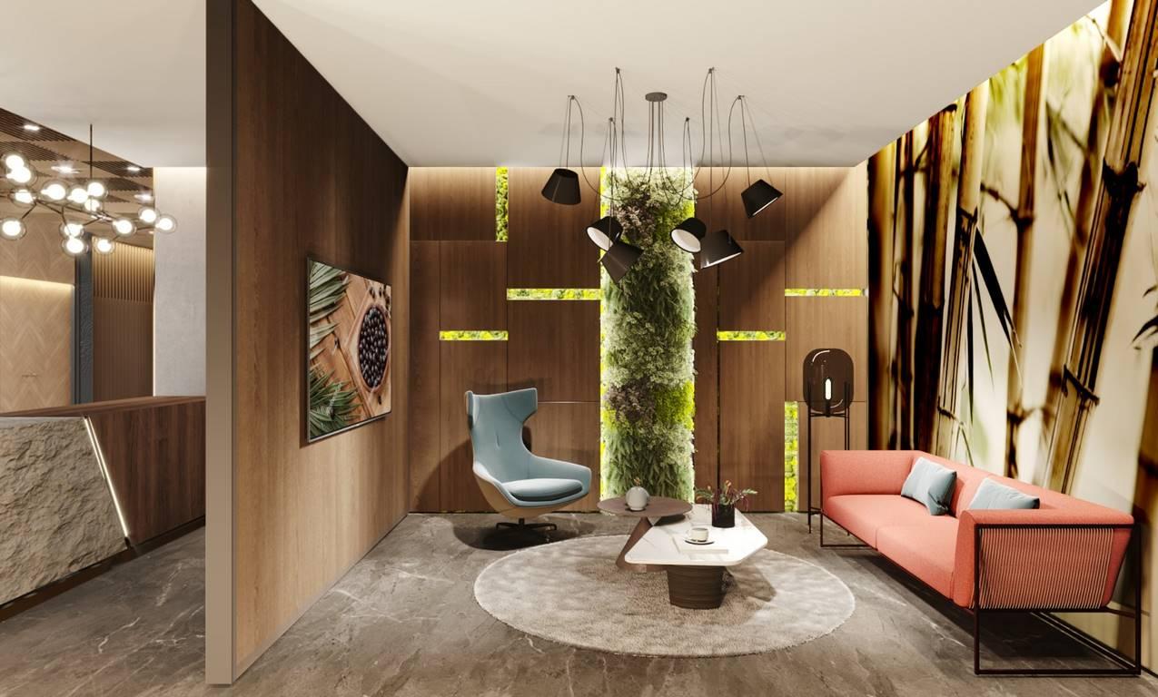 Verita Ofis giriş iç mimari tasarımı