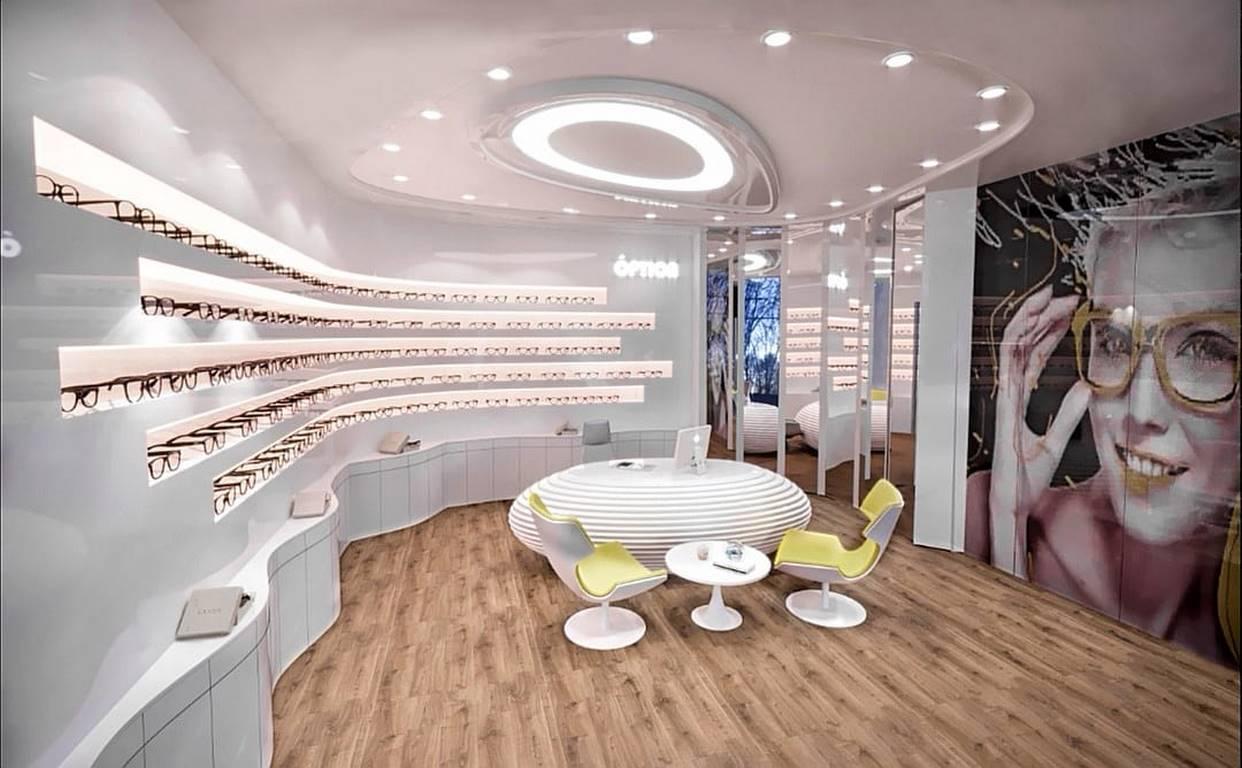 İstinye Optik Mağazası iç mimar tasarımı