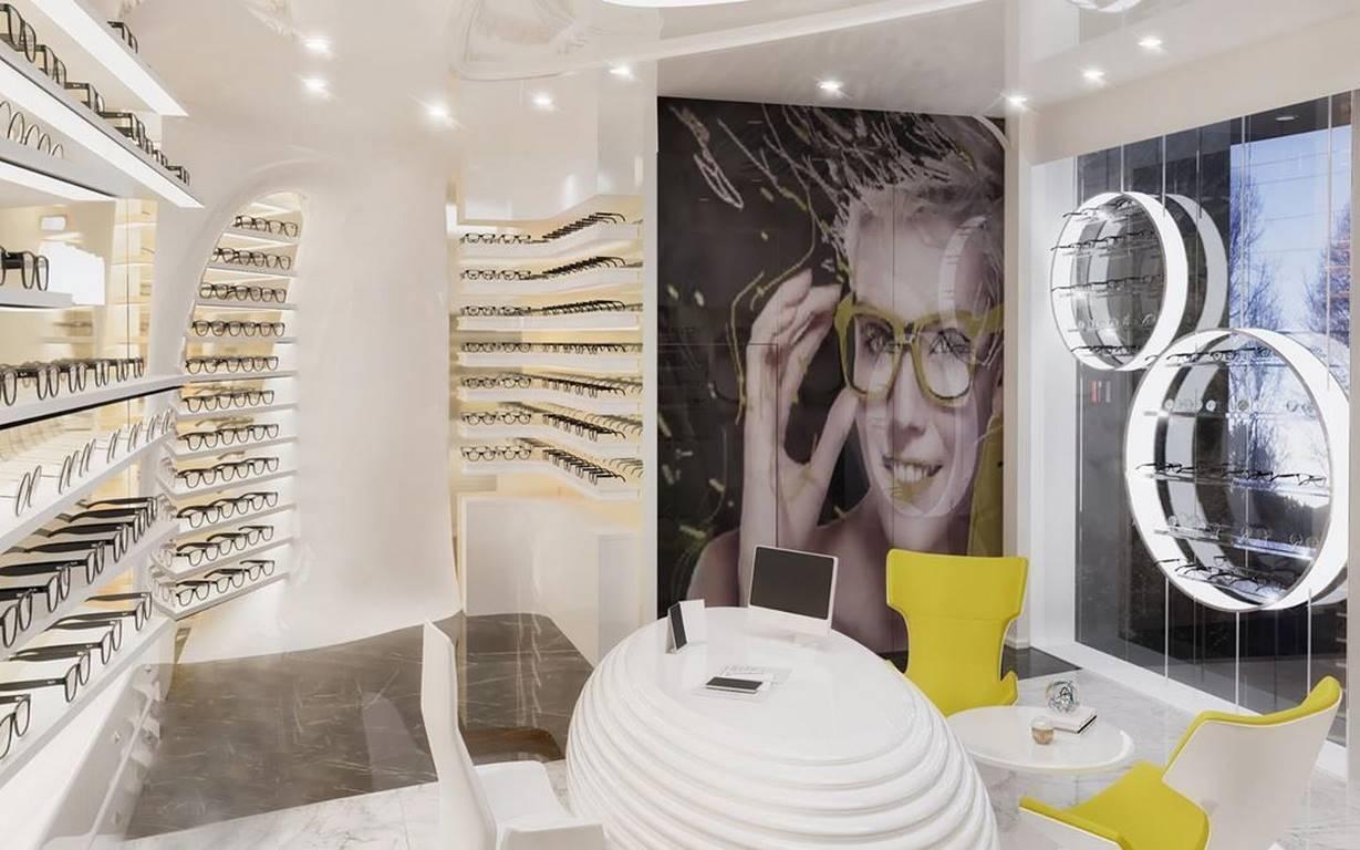 İstinye Optik Mağazası iç dekorasyonu
