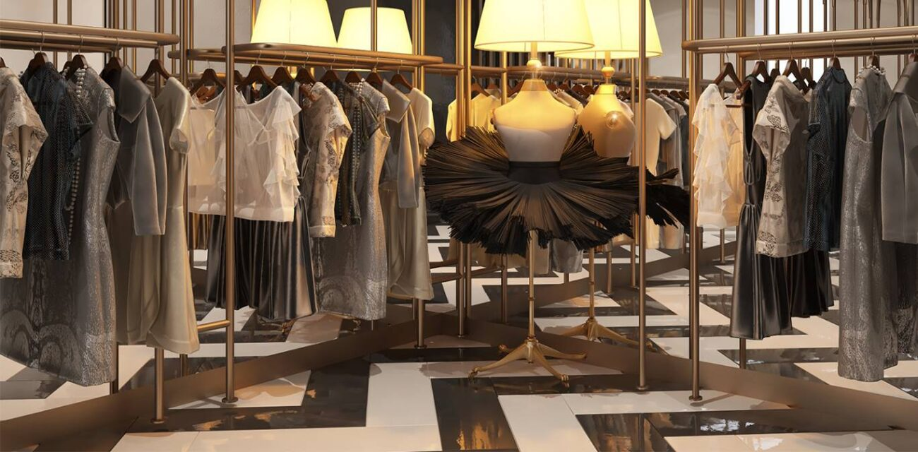 Ykz Ceylan Mağaza giyim reyonu iç mimar tasarımı